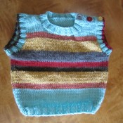 hipsterbabysweaterthumbnail 175x175 Free Knitting Pattern + Leftover Yarn = The Zero Dollar Hipster Baby Sweater