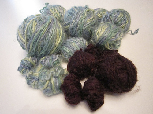 bluegreenvestunwound2 Luxecycle: Unwind With Knitting By Harvesting A Handmade Sweater For Yarn