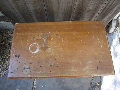 newshelf2 Green Hack: Repair Vintage Furniture With Trash Picked Antique Wood