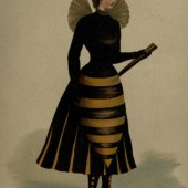 Slutty Honeybee Super Hero Halloween Costume (Circa 1890)