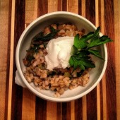 Barley, Leek, & Parsley Salad With Salt Preserved Lemons