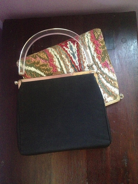 L and M reversible handbag